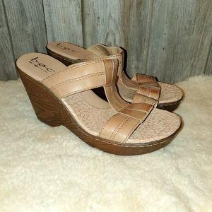 B.O.C. Born Concept brown platform sandals 10